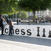 Chess area in Cathedral Square, Christchurch.