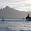 """Sunset on Lake Wakatipu. The lake is the longest in New Zealand at 80 km (50 miles) long. <br /> <br /> <a href=""""http://en.wikipedia.org/wiki/Lake_Wakatipu"""">http://en.wikipedia.org/wiki/Lake_Wakatipu</a>"""
