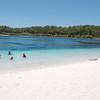 Lake McKenzie freshwater lake on Fraser Island
