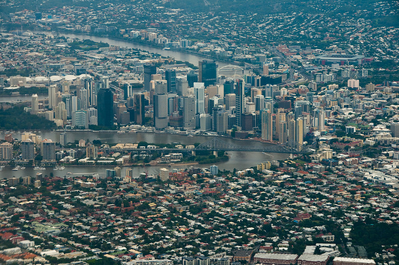 Brisbane from the air