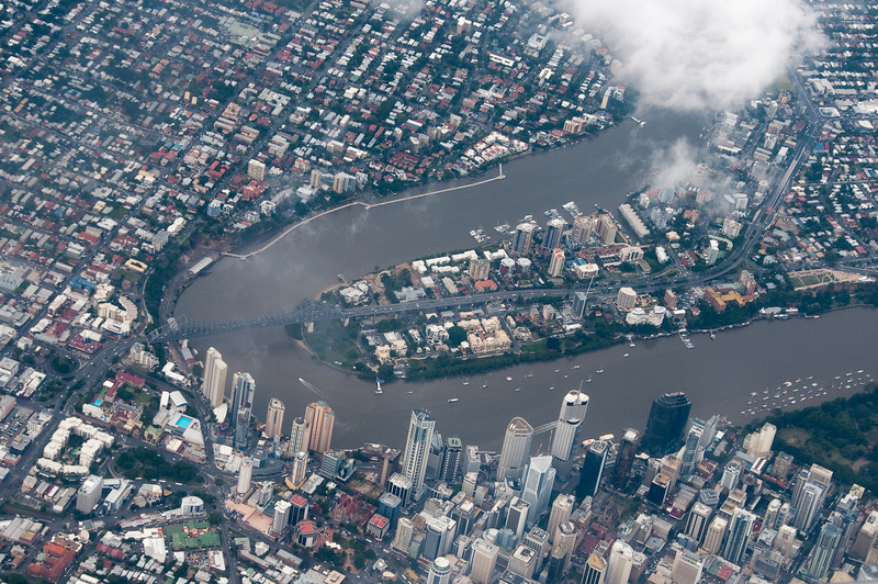 Brisbane River from the air