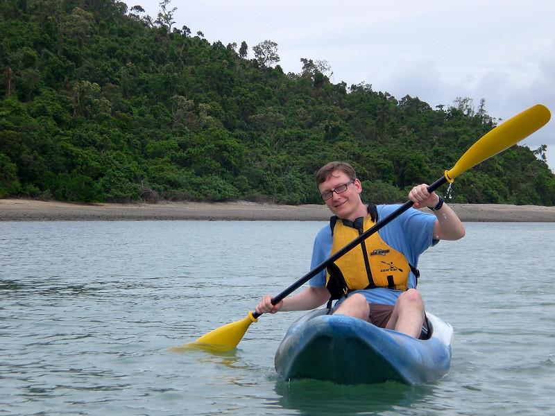 Brian kayaking off Queensland