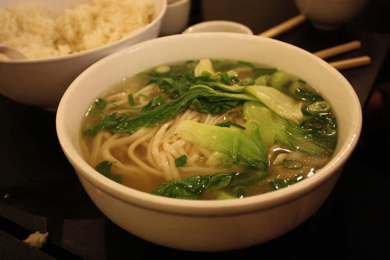 Soup at the Noodle House in Chinatown.