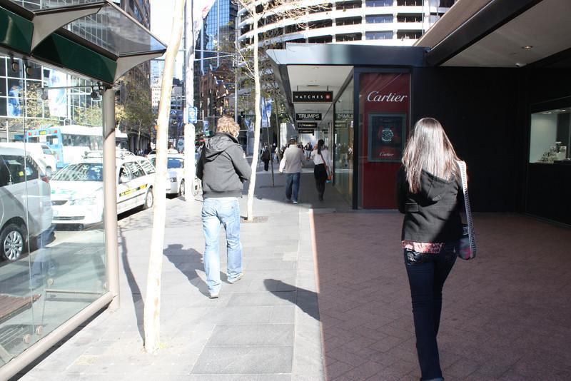 Grace and Daniel walking in Sydney.