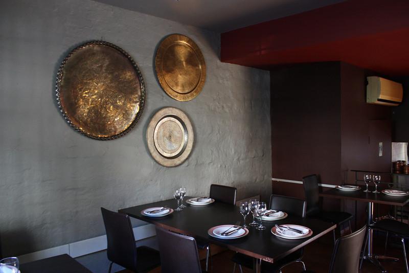 Inside decor of the restaurant.