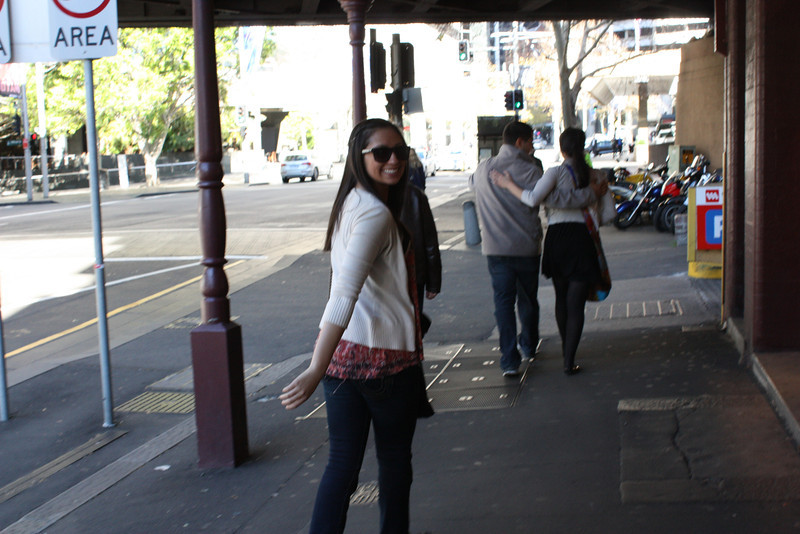 Grace walking in Sydney.