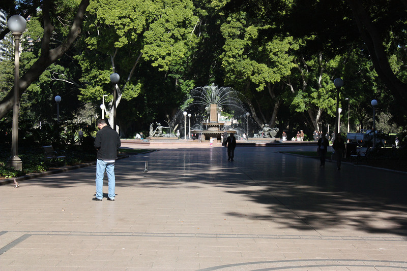 Sydney and a fountain.