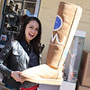 Bianca and the large Ugg boot.