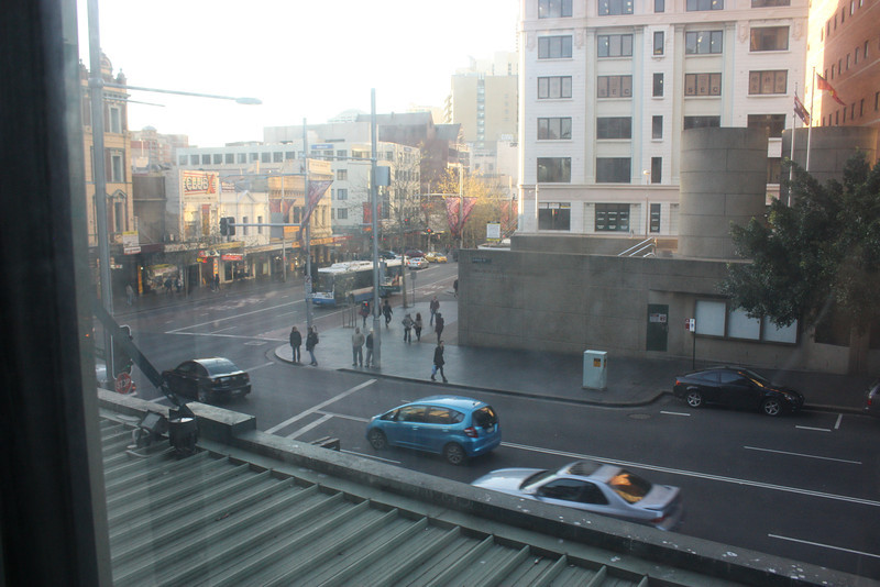 View from hostel window.