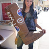 Grace and the large Ugg boot again!