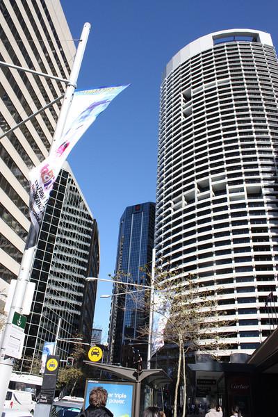 Tall buildings in Sydney.