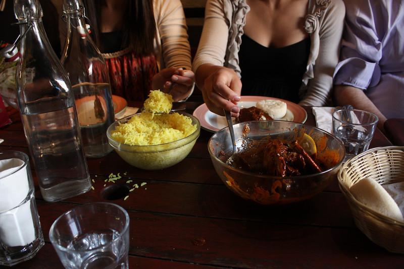 Food at Viva Goa.