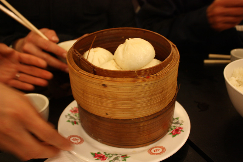 Steamed pork buns at the Noodle House in Chinatown.