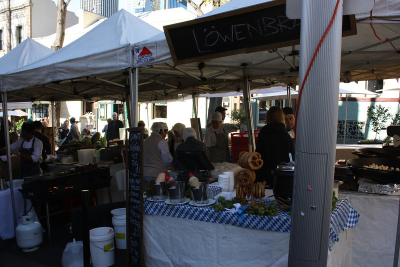 Food at the market.