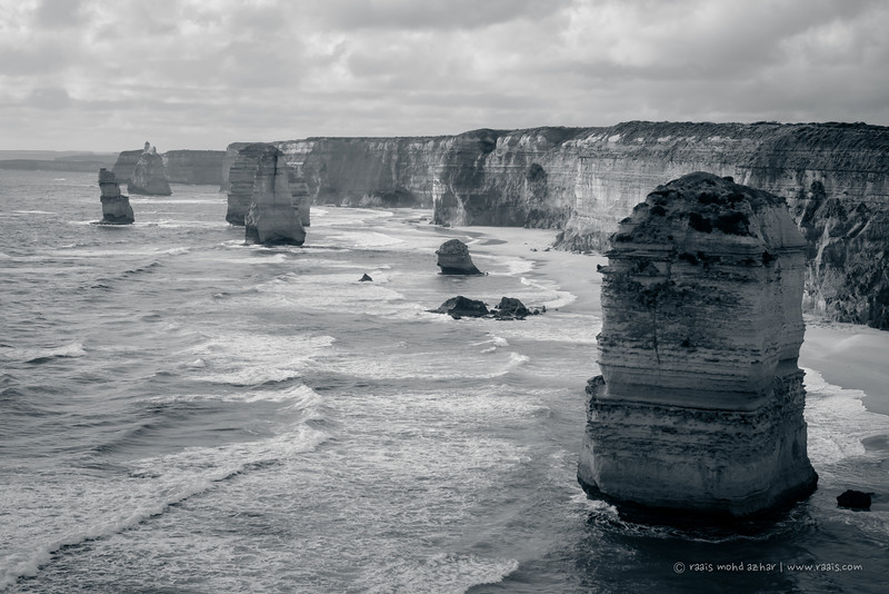 The 12 Apostles in B&W