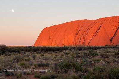 Moon over Uluru / Ayers Rock