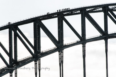 Climbers on the Sydney Harbor Bridge.
