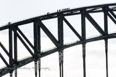 Climbers on the Sydney Harbor Bridge.