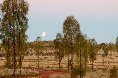 Lunar Eclipse Viewed Near Uluru / Ayers Rock