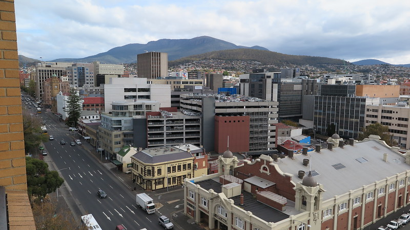 Hobart from my hotel room