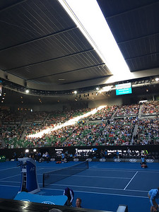 Late in the day at Rod Laver