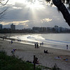 Mooloolaba beach in late afternoon