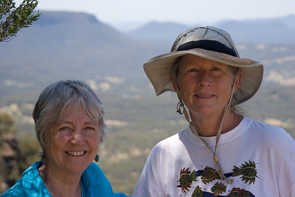 Mary and Carolyn in the Blue Mountains.  Mary has been a friend of Carolyn's for many years.