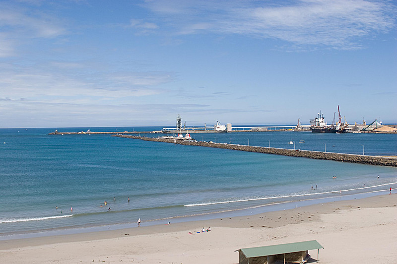 The port of Portland, South Australia.  this was a very nice area.