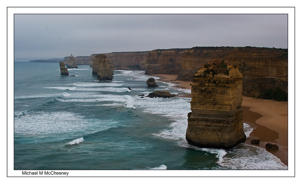 The 12 Appostles, Great Ocean Highway, Australia. A cold and foggy morning