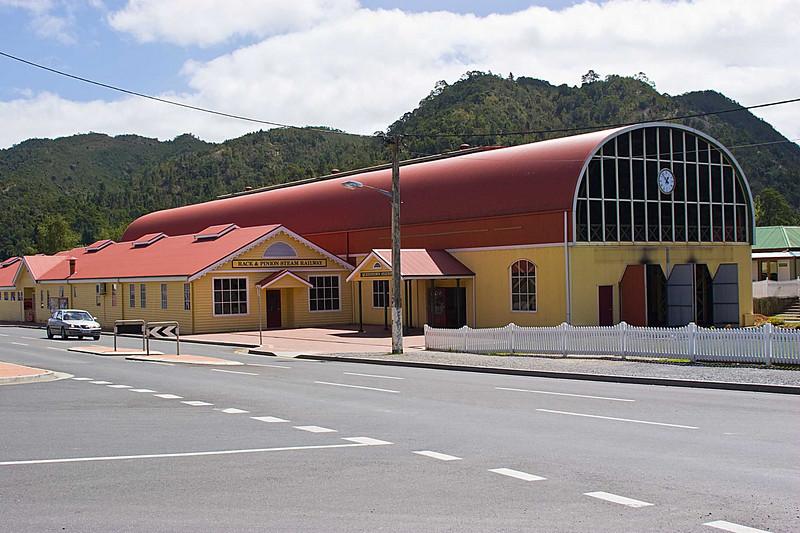 Railroad engine barn in Queenstown Tasmania