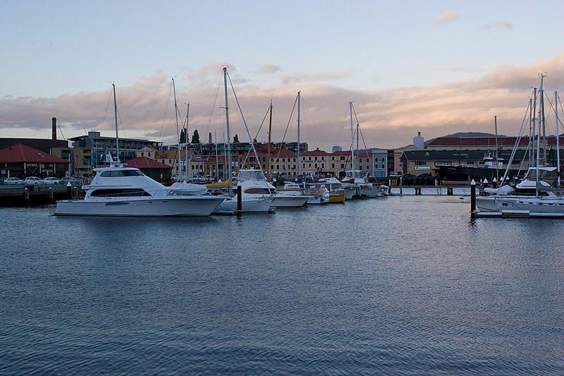 Harbour area of Hobart, Tasmania.  This was our last night in Tasmania.