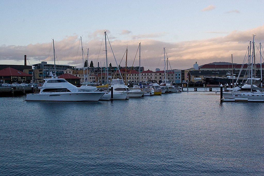 Harbour area of Hobart, Tasmania.  This was our last night in Tasmania.