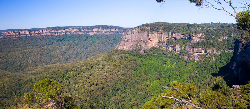 The Blue Mountains which is west of Sydney.  It was about 110 deg when we were there.
