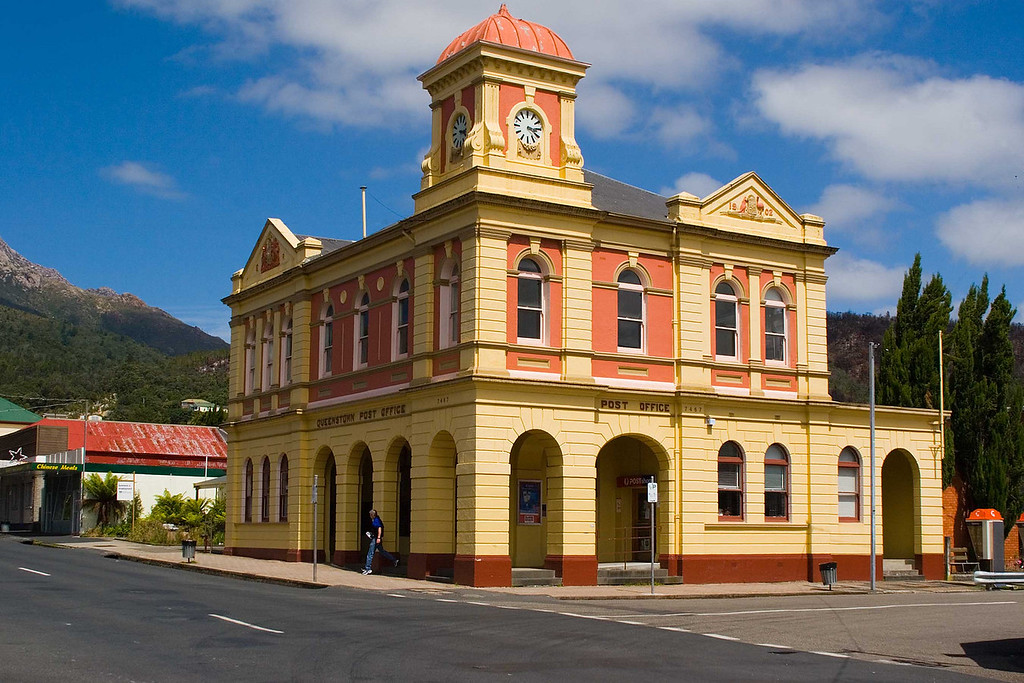 Post office in Queenstown, Tasmaina
