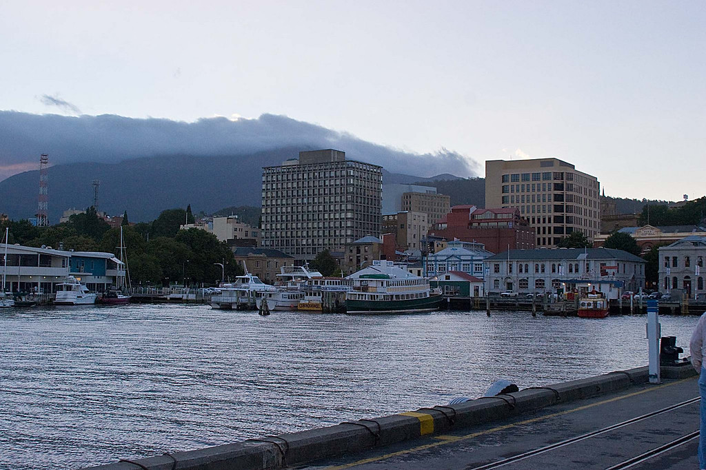 Harbour area of Hobart, Tasmania
