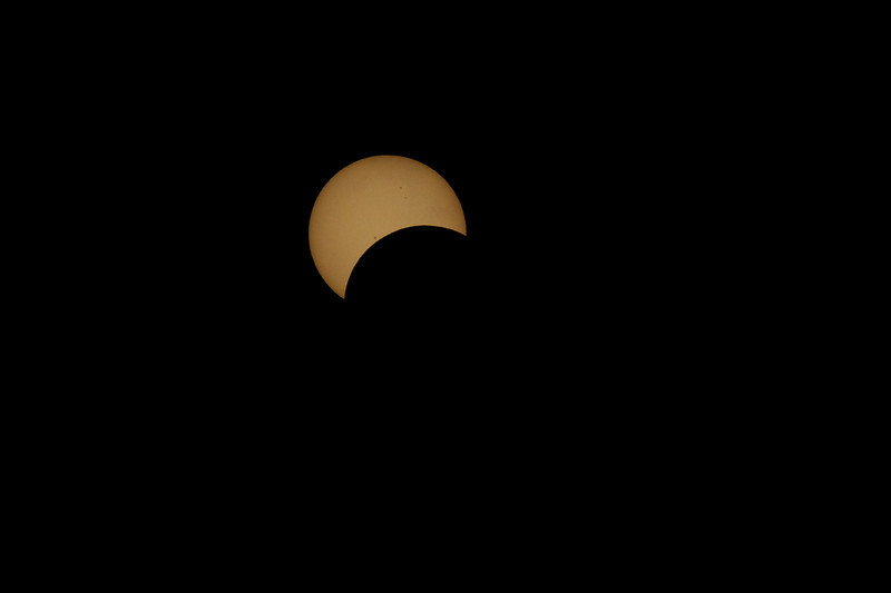 Partial eclipse from near Julatten, Australia.  Shot through a solar filter.