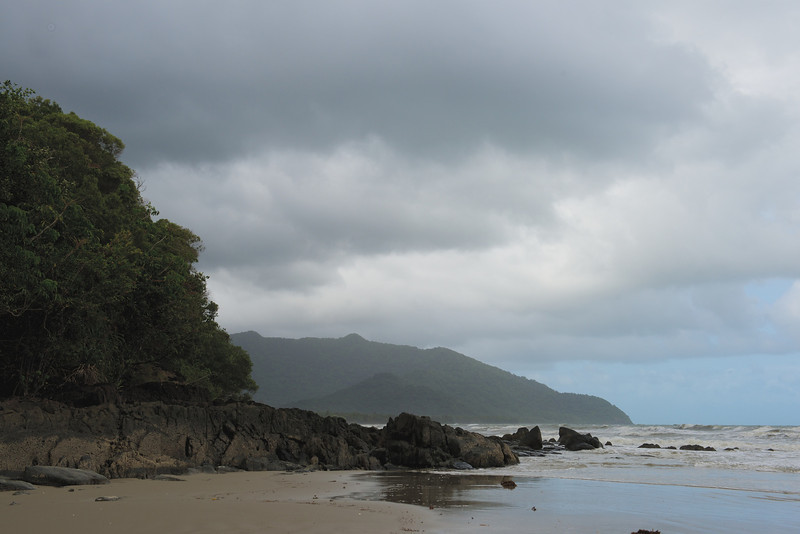 The coast was rocky and the rainforest came right down to the beach.