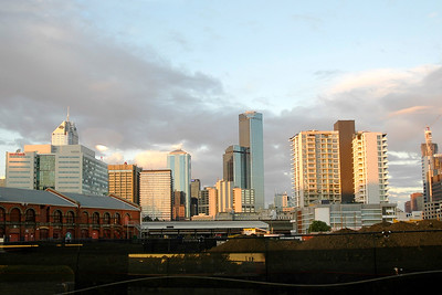 Melbourne skyline. Melbourne, Victoria (VIC), Australia