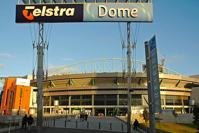 Telstra Dome, in the heart of Melbourne's Docklands, is a multi-purpose facility catering for major sporting and entertainment events. Melbourne, Victoria (VIC), Australia