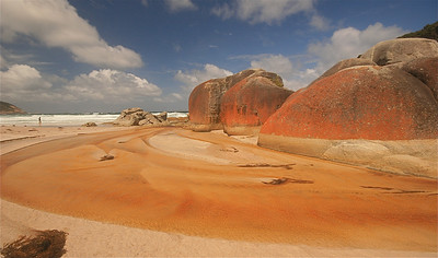 Squeaky Beach, Wilson's Promontory NP. Victoria, Australië.