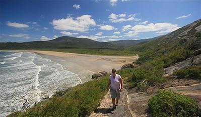 Little Oberon Bay Walk, Wilson's Promontory NP. Victoria, Australië.