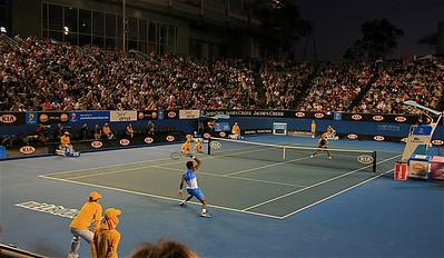 Monfils - Gil @ Margaret Court. Australian Open 2011, Melbourne. Victoria, Australië.