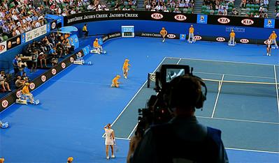 Sam Stosur @ Rod Laver Arena. Australian Open 2011, Melbourne. Victoria, Australië.