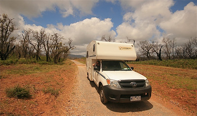 Cottler's Lake Drive, Wilson's Promontory NP. Victoria, Australië.