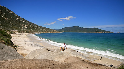 Little Oberon Bay, Wilson's Promontory NP. Victoria, Australië.
