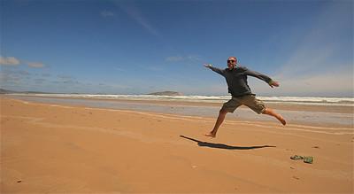 Uit de reeks: 'Jump!' Darby Beach, Wilson's Promontory NP. Victoria, Australië.