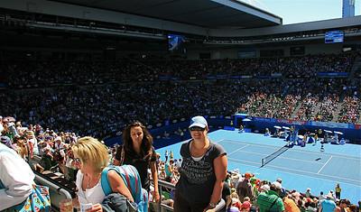 Nic @ Rod Laver Arena. Australian Open 2011, Melbourne. Victoria, Australië.
