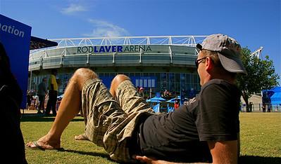 Ed @ Rod Laver Arena. Australian Open 2011, Melbourne. Victoria, Australië.