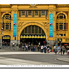 Flinders Central Railway Station in downtown Melbourne, Australia