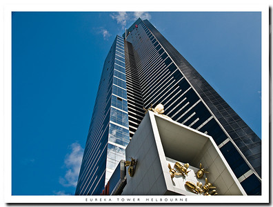 Eureka Tower in Melbourne Victoria Australia